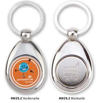 Metall-Schlüsselanhänger Tropfen (Artikelnr.: 520250)
