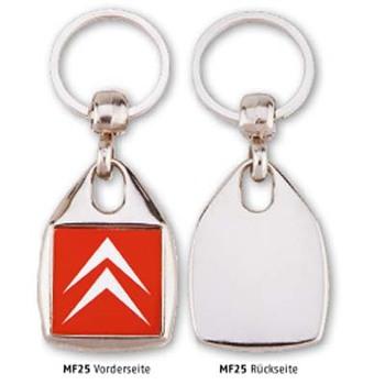 Metall-Schlüsselanhänger Quadrat (Artikelnr.: 520280)